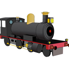 Free Steam Locomotive Vector - vector gratuit #211431