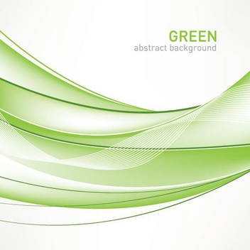 Green Abstract Background - Free vector #211481