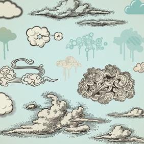 Cloud Vectors Collection - Kostenloses vector #211511