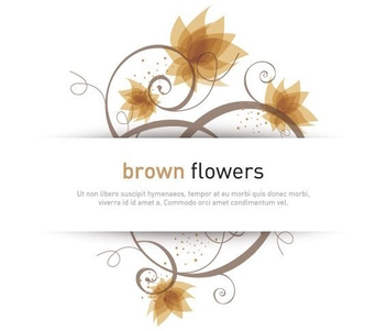 Brown Flowers - vector gratuit #211571