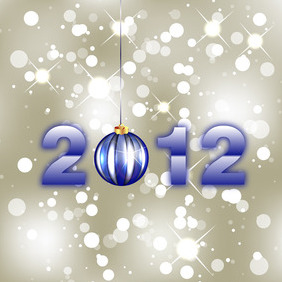 New Year Free Vector - vector gratuit #211691
