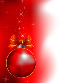 Red Christmas Vector Design - Free vector #211811