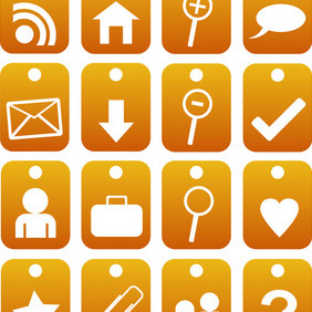 Ornage Web Icons - Free vector #211821