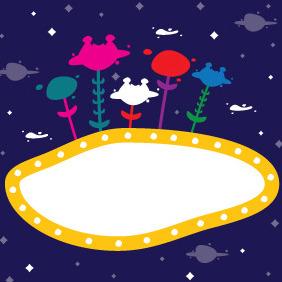 Cosmic Banner - vector #211851 gratis