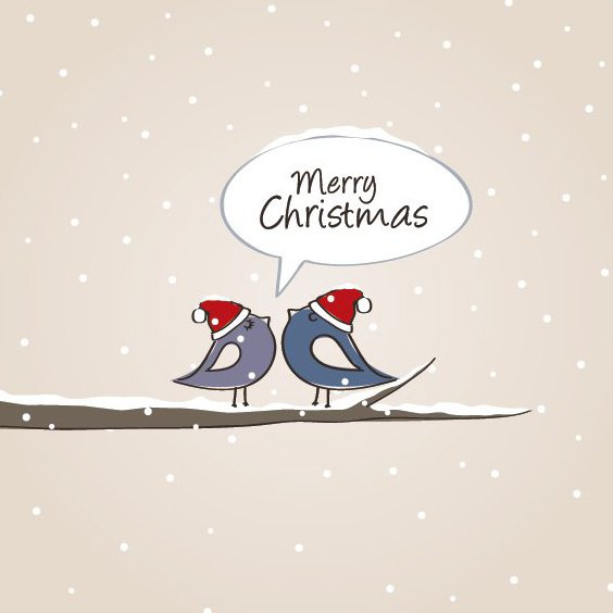Christmas Birds - Free vector #212001