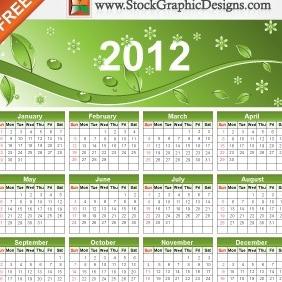 2012 Eco Green Free Vector Calendar - Free vector #212171