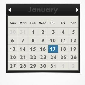 Vector Calendar - vector #212191 gratis
