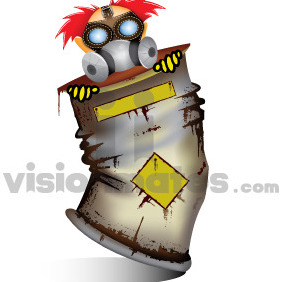 Character In Radioactive Material - Free vector #212221