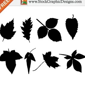 Leaf Silhouettes Free Clip Art Images - Free vector #212241
