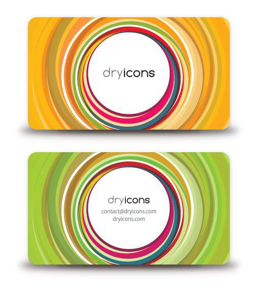 Circular Business Card - Free vector #212401