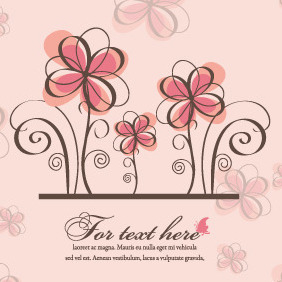 Vector Spring Floral Background - Kostenloses vector #212411
