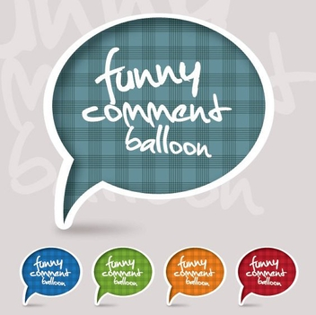 Funny Comment Balloon - Free vector #212471