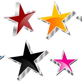 3D Vector Stars - Kostenloses vector #212611