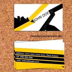 Stylish Business Card Template - Free vector #212651