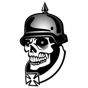 Soldier Skull Vector - Free vector #212681