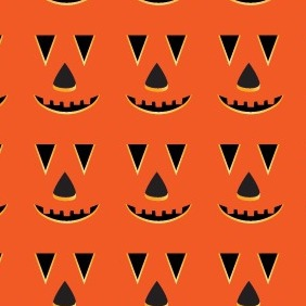 Halloween Photoshop And Illustrator Pumkin Face Pattern - vector gratuit #212691