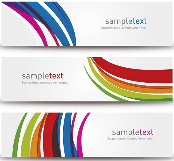 Abstract Modern Banners - Free vector #212751