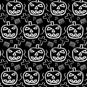 Hand Drawn Spooky Halloween Illustrator Pattern - vector gratuit #212851