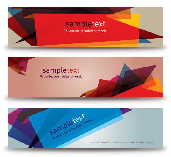 Abstract Banners - Free vector #212991