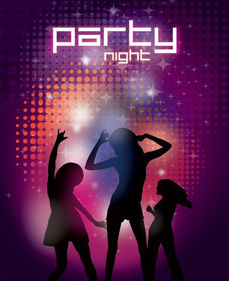 Night Party - vector gratuit #213181