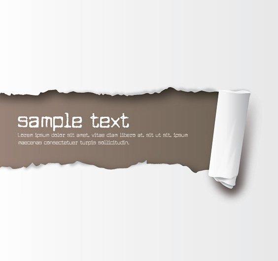 rasgado de papel - vector #213221 gratis
