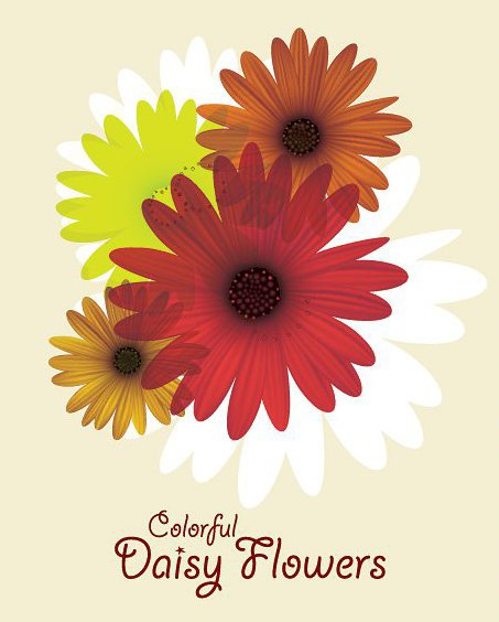Margarida colorida flores - Free vector #213301