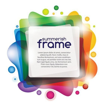 Summerish Frame - vector gratuit #213321