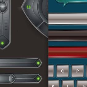 3 Vector GUI Design Sets Including 95+ UI Elements - Kostenloses vector #213401