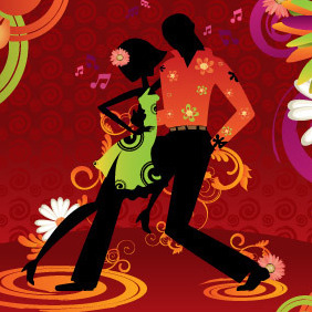 Salsa Dancing - Free vector #213511