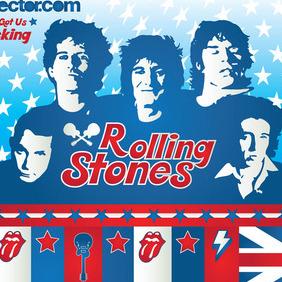 Rolling Stones Vector - Free vector #213531