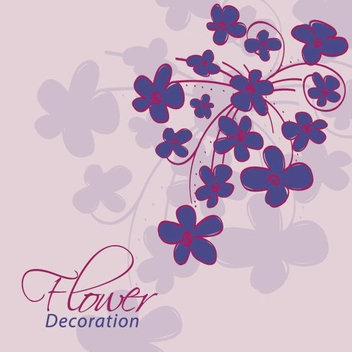 Flower Decoration - vector gratuit #213561