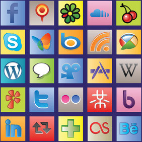 Social Network Vector Icons - бесплатный vector #213581