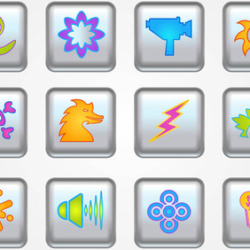Buttons Vector Icons - бесплатный vector #213641