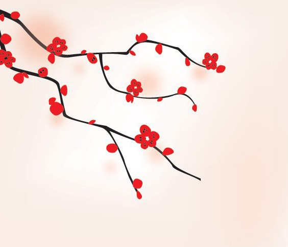 Orientalische Baum - Kostenloses vector #213971