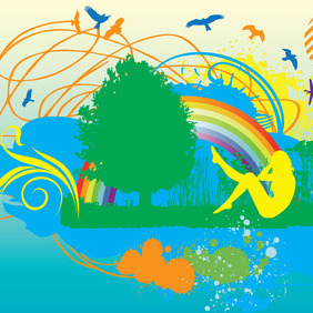 Garden Of Eden - Free vector #214011