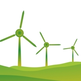 Windmills - Free vector #214041