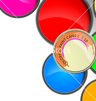 Free paint cans vector - Free vector #214221