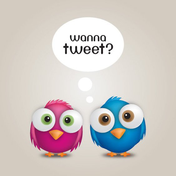 Wanna Tweet - Free vector #214261