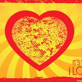 Grunge Heart - Free vector #214281