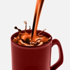 Coffee Mug With Chocolate Coffee - vector gratuit #214421