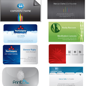 Business Card Templates - vector #214471 gratis