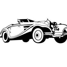 Old-timer Car Vector - vector gratuit #214481