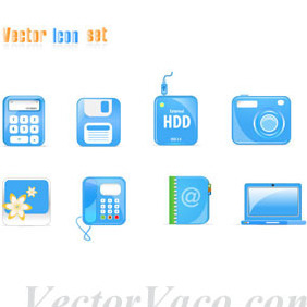 Free Blue Vector Icons - vector gratuit #214681