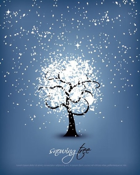 Snowing Tree - vector gratuit #214761