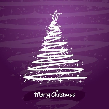 Stylized Christmas Tree - Free vector #214791
