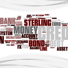 Word Cloud Finance - vector #214851 gratis