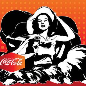 Vintage Coca-Cola Poster Vector - бесплатный vector #214991
