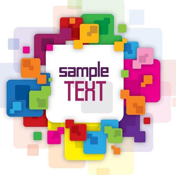 Cuadro de mensaje colorido - vector #215051 gratis