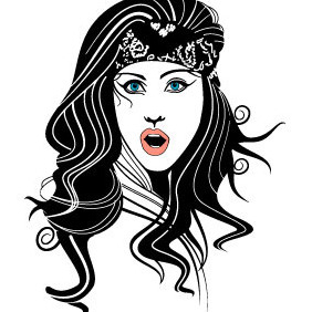 Gypsy Woman Vector - Free vector #215071