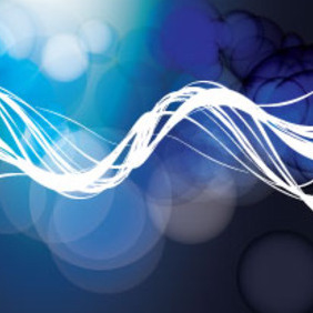 Abstract Blue Bubbles With Lines - Free vector #215321